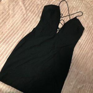 Nasty Gal strappy black dress